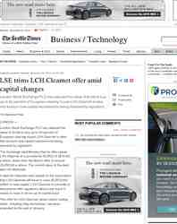 LSE trims LCH Clearnet offer amid capital changes: Seattle Times